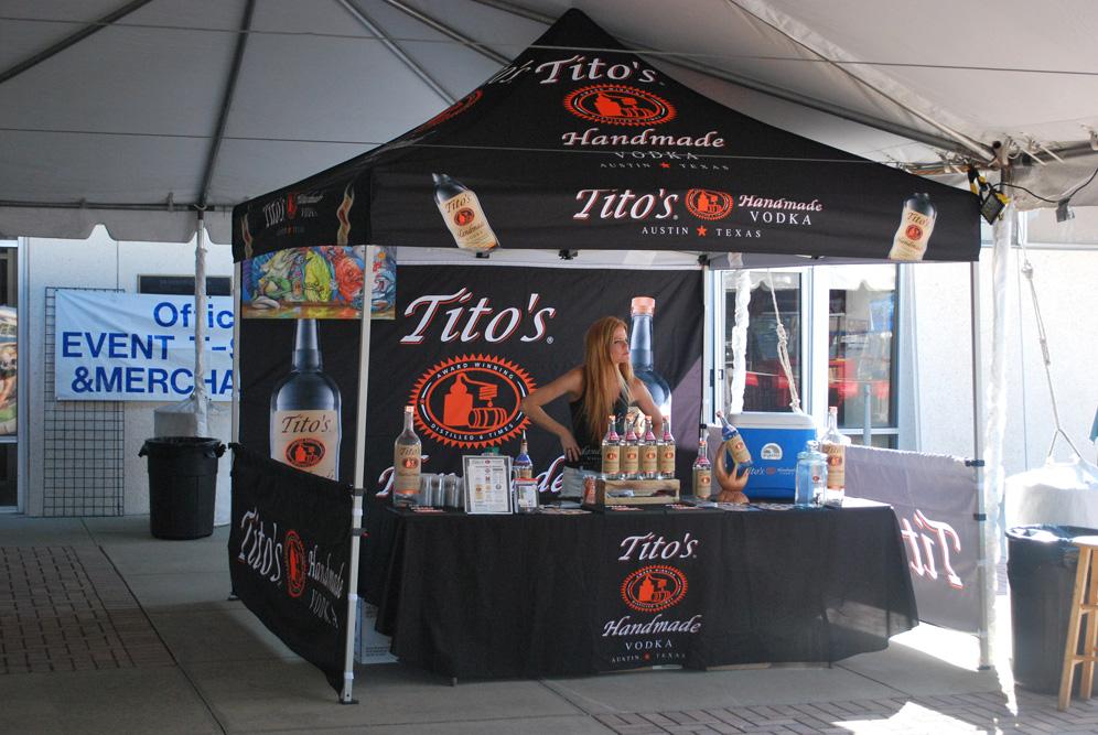 Tito's Handmade Vodka sampling tent at Fish Stock