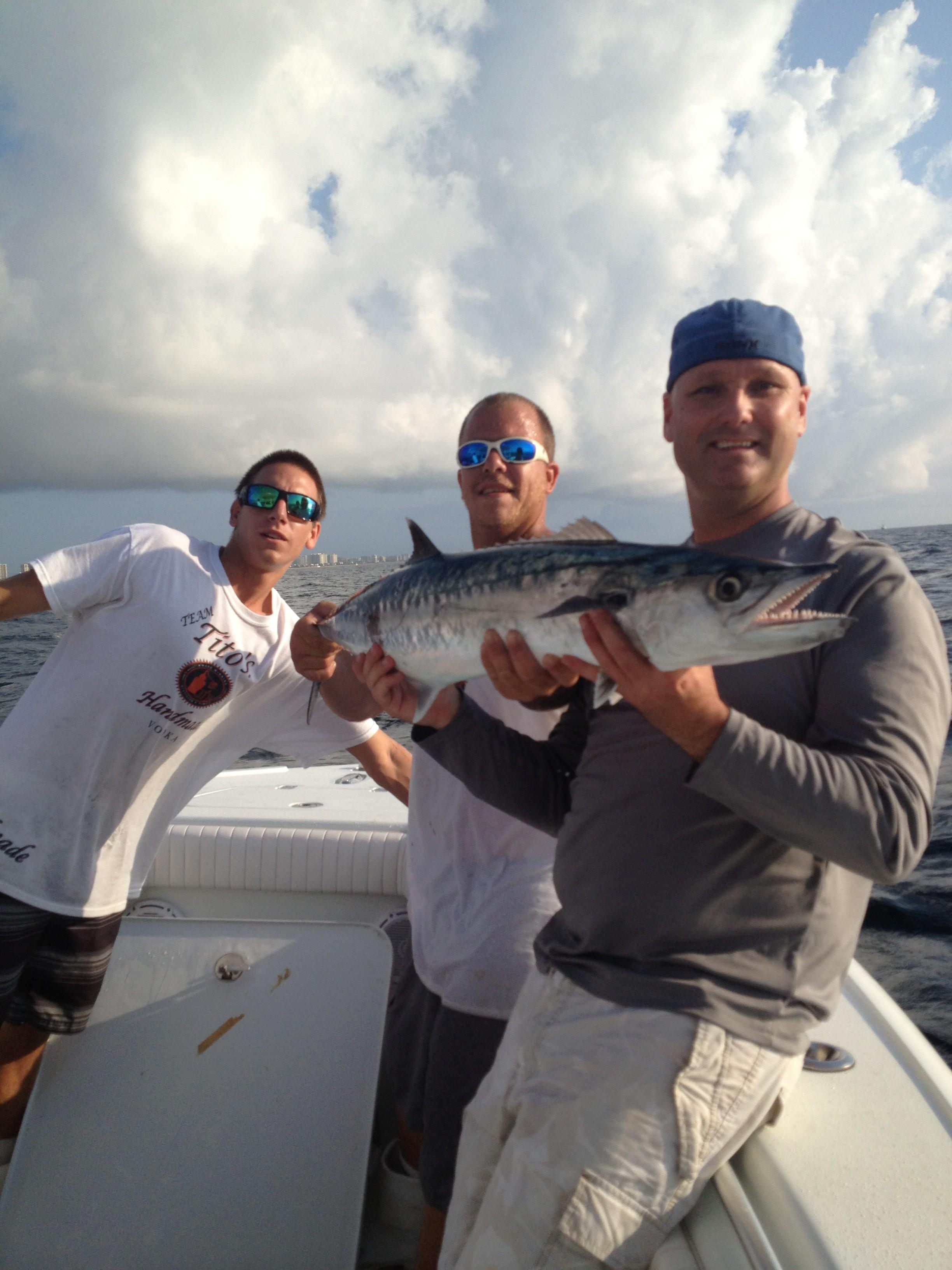 Scott, Joe, and Jamie with a kingfish